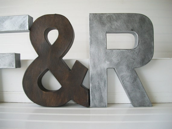 Home Decor Wall Letters : Items similar to painted letter wall letters inch