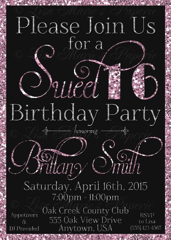 süß 16 geburtstagseinladung süße 16 party-einladung süß 16, Einladungsentwurf
