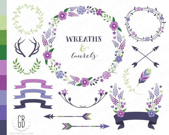 Antler Wreath Clip Art