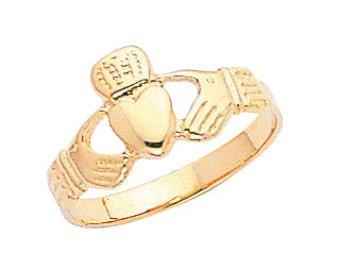 14k gold claddagh ring. irish ring, irish jewelry, friendship ring, gold ring, ring