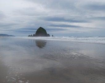 Haystack Rock Cannon Beach Oregon Coast - Instant Digital Download Photo - Wall Art Decor