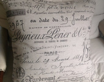 French Script pillow covers