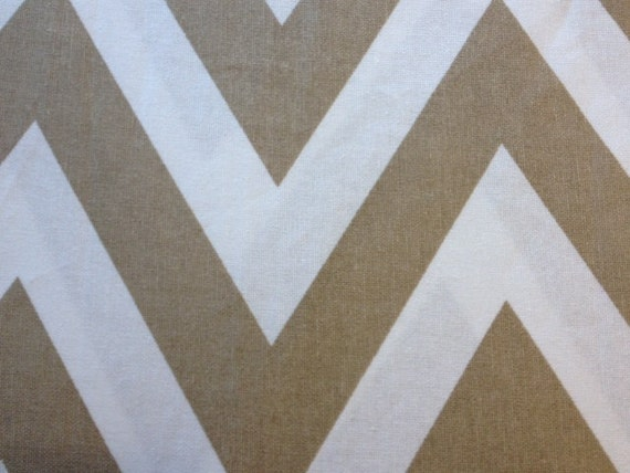 Tan And White Chevron Shower Curtain By PetalandForrest On
