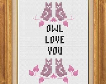 PDF pattern - Owl Love You