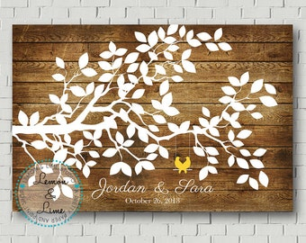 Rustic Wedding Tree, Wedding Wish Tree, Guest Book Tree, Wedding Guest Book Alternative, Rustic Wedding Faux Wood Sign, Wedding Poster