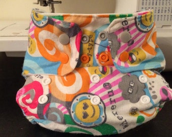 OS Flannel Cloth Diaper Cover