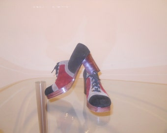 Vintage Multi-Colored Platform Shoes
