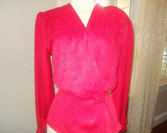 Vintage Joan Collins Peplum Blouse