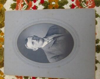 Antique Cabinet Card - Victorian Man in Suit - Victorian Portrait