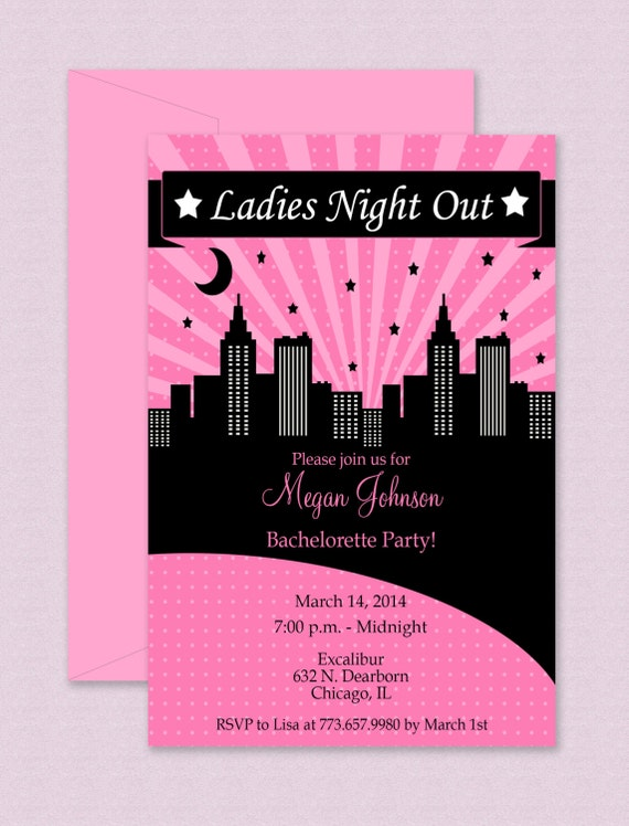 Girls Night Invite for adorable invitation ideas