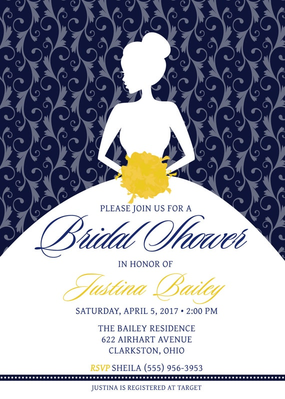 Nautical bridal shower invitations templates 28 images invite nautical blue and yellow bridal shower nautical filmwisefo