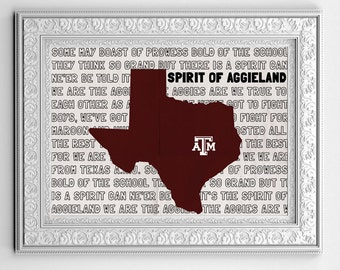 Texas A & M Spirit of Aggieland Print (multiple sizes available)