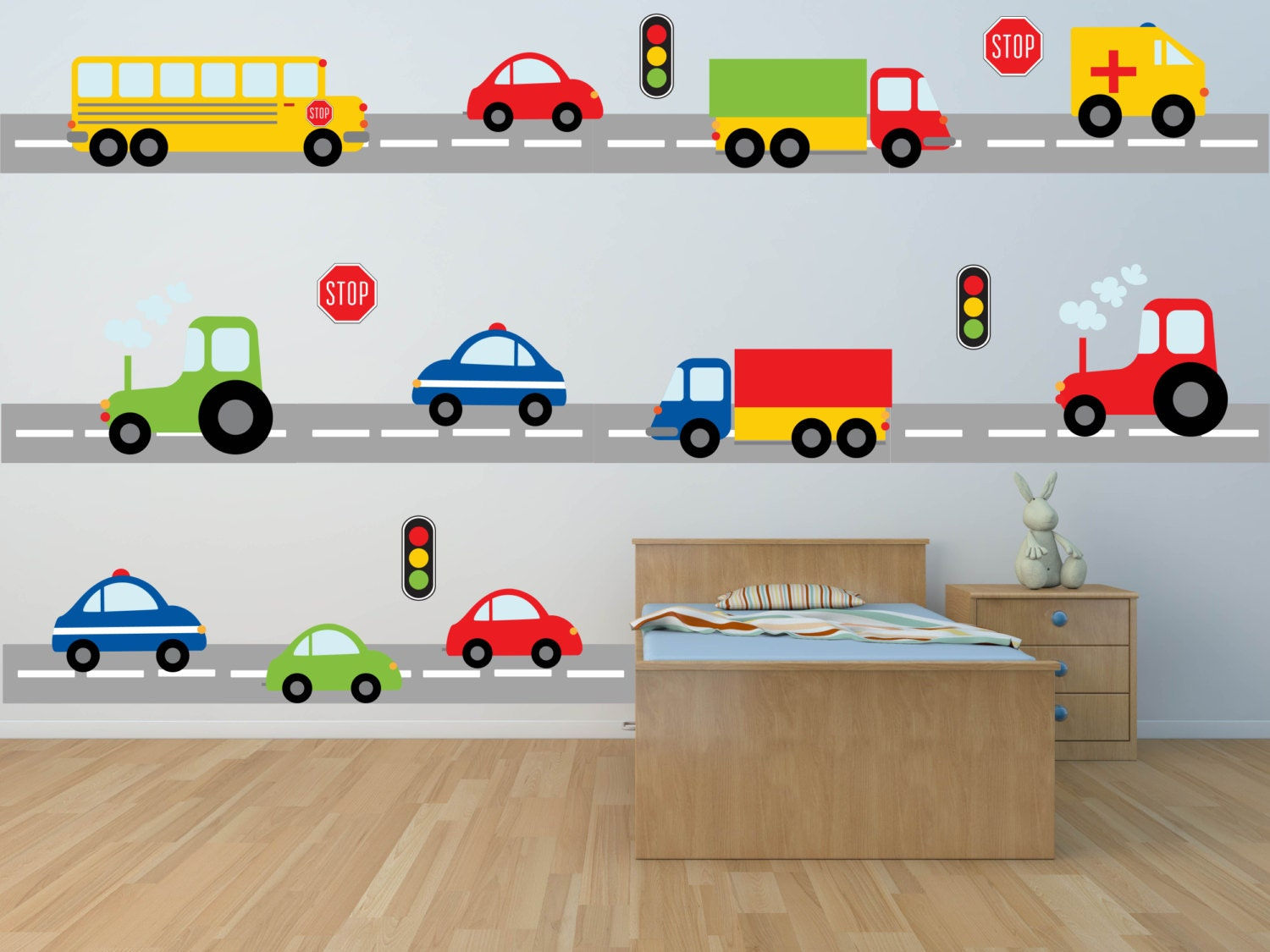 Car wall stickers for boys for Cars wall mural sticker