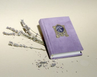 Corduroy Journal, Lilac Diary, Art Nouveau Notebook, Lavender Sketchbook, Vintage Style Memory Book, Secret Diary, Secession Picture Frame