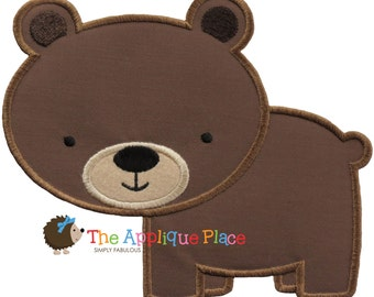 Brown Bear Machine Embroidery Applique Design