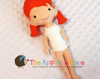 Heidi Doll * Stuffed Cloth doll * In The Hoop * ITH Machine Embroidery Pattern / Design with Tutorial