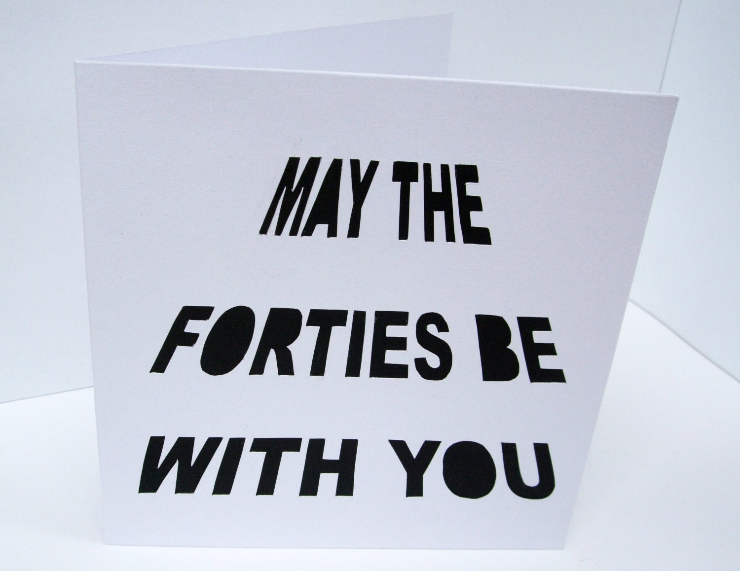 40th Birthday Card May the Forties Be With You Fortieth – Personalised 40th Birthday Cards for Men