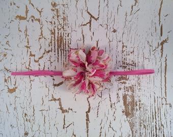 Pink Floral Flower Headband