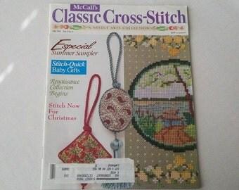 1992 McCalls Classic Cross-Stitch A Needle Arts Collection Magazine