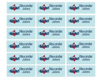 100ct Dishwasher Safe Airplane - Baby Bottle Labels, Daycare Labels - Waterproof Kids Name Label, School Supplies Labels