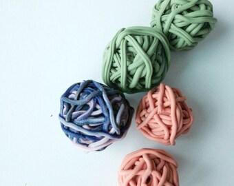 Polymer clay yarn ball beads