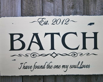 Personalized Distressed Name Sign
