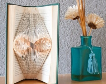 Infinity-Folded Book Art- Book Lover-Home Decor-Unique Gift