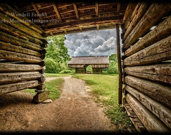 Spring Thunderstorms Approaching Pioneer Barns  (Great Smoky Mountains National Park) E130