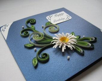 Happy Birthday Card - Handmade Quilling Card - Mom Birthday