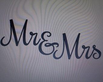 Mr & Mrs Vinyl Decals