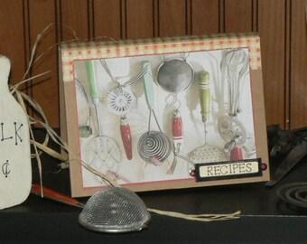 Recipe Book, Recipe Card Book, Cookbook, Recipes