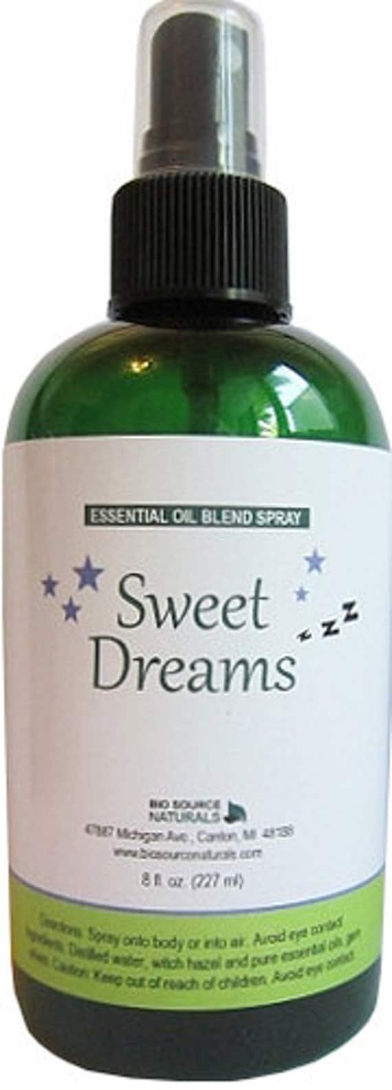 Sweet Dreams Essential Oil Blend Spray with Gem Elixirs & Flower Essences 8 fl. oz / 240 ml