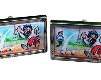 Petanque Boules Cufflinks from an original image