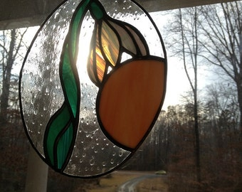 Stained Glass Snowdrop Flower