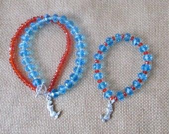 Swarovski Mermaid Bracelet Set by The Darling Duck