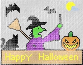 Halloween Plastic canvas Pattern Sign