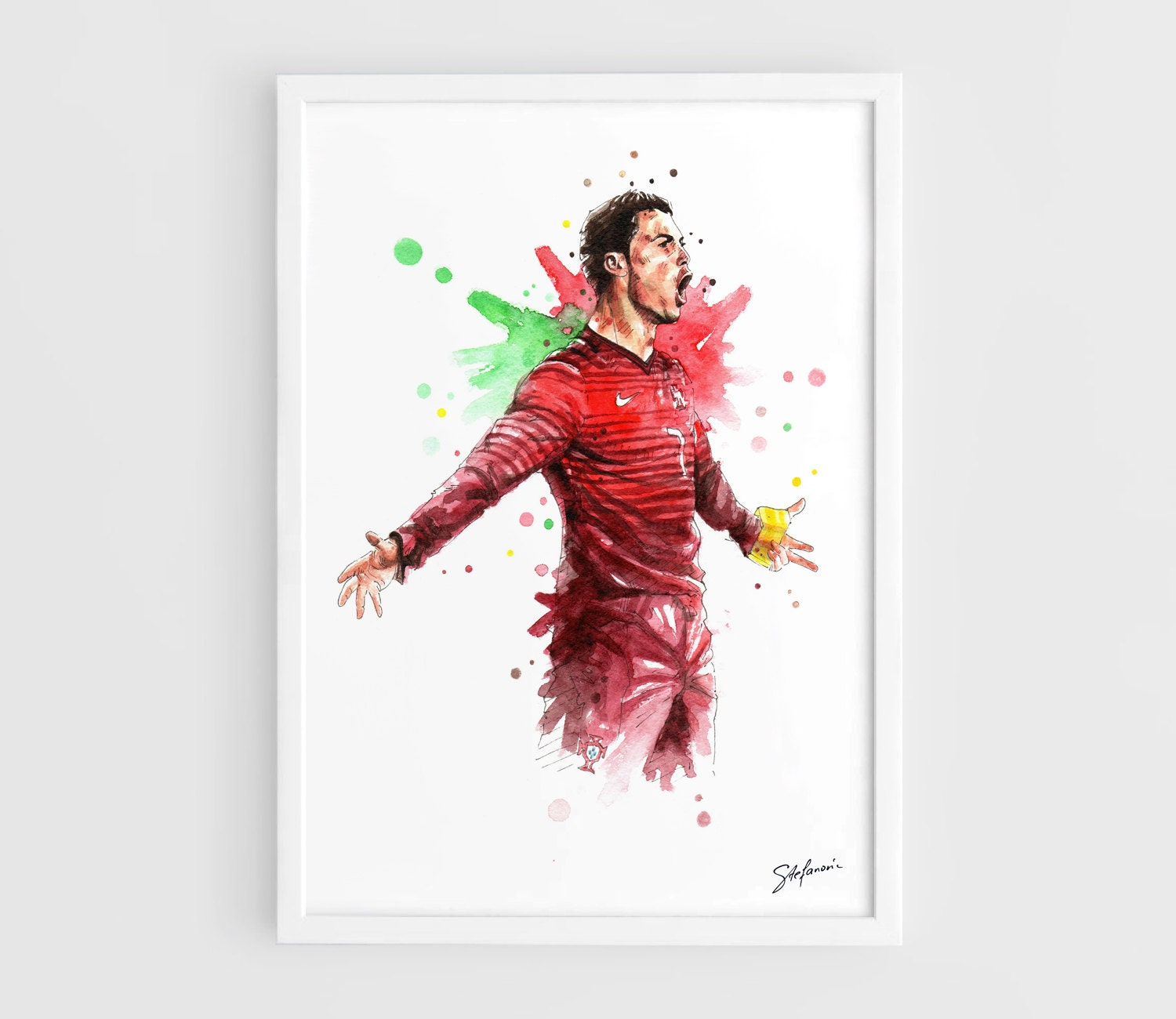 Print Your Own Wall Stickers Cristiano Ronaldo Portugal National Football Team Fifa World