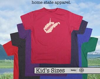 West Virginia home tshirt KIDS sizes The Original home tshirt