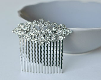 Vintage Inspired bridal hair comb, Swarovski hair comb, wedding hair comb, bridal hair accessories, wedding hair