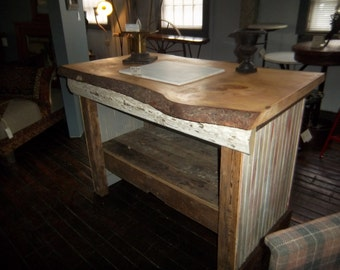 Popular items for wood island on etsy for Live edge kitchen island
