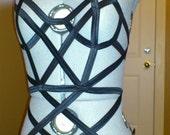 Kora Bindz Bodysuit - Bindz Elastic Body Harness. Pole Dance, Dance Wear, Dance Costume, Burlesque Top