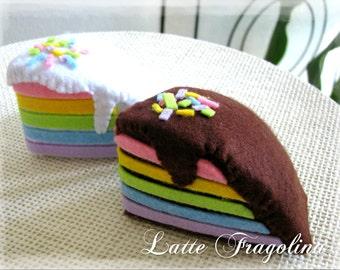 Felt rainbow cake - Toy for children