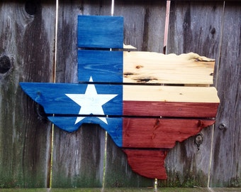 Recycled Pallet Texas State Flag