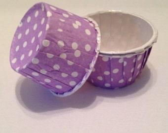 Purple / Lavender Polka Dot Snack Cups