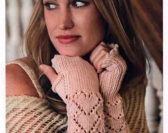 PDF Knitting PATTERN- Women Fingerless Mittens Hidden Hearts