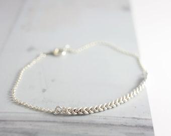 Sterling silver braid bracelet, silver knot bracelet, bracelet, charm bracelet, chain bracelet, friendship bracelet, jewelry, women, gift