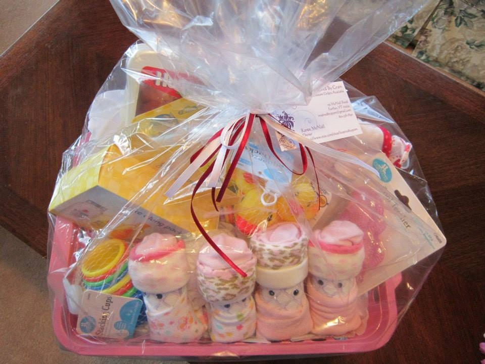 baby shower gift basket for girl by inspiredbygram on etsy
