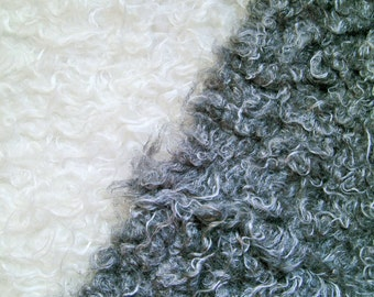 "0,5 m Fake fur trim ""Lamb"" 100 mm width  curly hair Polyester"