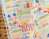 Riley Blake Designs Pieces of Hope Mulit Words by RBD Designers for Charity Quilting Fabric YARD