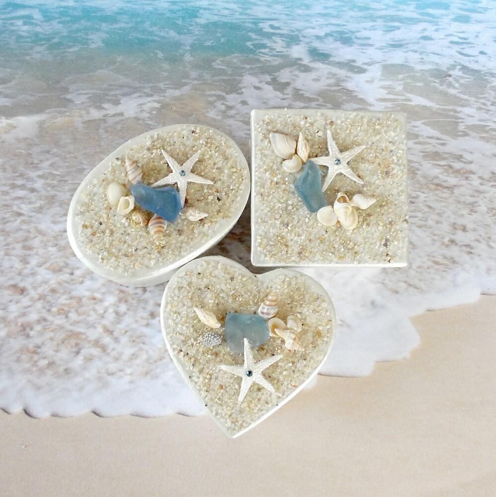 Beach Wedding Favor Boxes 3 Seashell Gift Box By CoastalGlamour